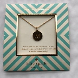 NWT Authentic Kate Spade gold initial M necklace